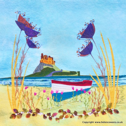Lindisfarne in felt and applique